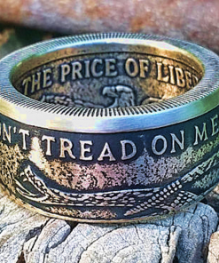 Don't Tread On Me Ring 999 Fine Silver Coin Ring
