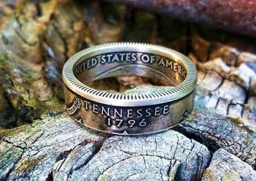 Silver State Quarter Coin Ring