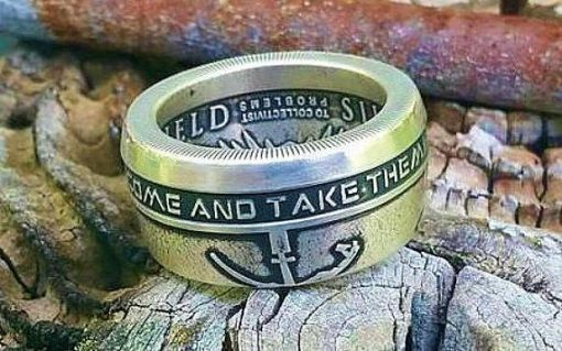 AG-47 Come and Take Them / Molon Labe Coin Ring