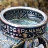 Panama Silver Quarter Balboa Coin Ring