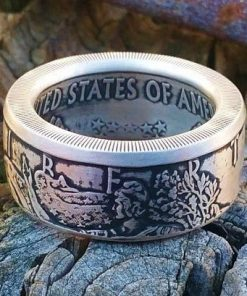 American Silver Eagle Coin Ring (999) Pure Silver Bullion