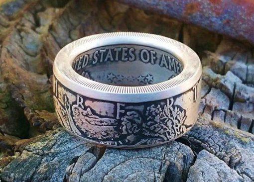 American Silver Eagle Coin Ring (999) Pure Silver Bullion