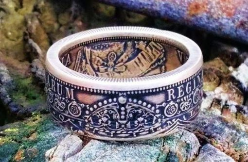 Victoria Sterling Silver British Half Crown Coin Ring