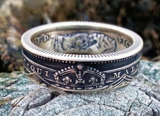 Victoria Sterling Silver British Shilling Coin Ring