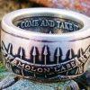 Molon Labe 999 Fine Silver Coin Ring