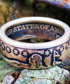 Civil War Era Seated Liberty Half Dollar Coin Ring