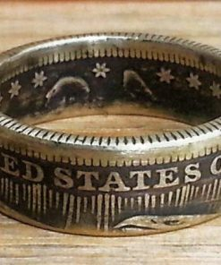 1853 Seated Liberty Quarter Dollar Coin Ring